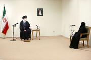 تصاویری از دیدار خانواده شهید فخریزاده با رهبر انقلاب