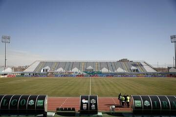 ورزشگاه امام خمینی اراک پیش از دیدار پرسپولیس و آلومینیوم/ تصاویر