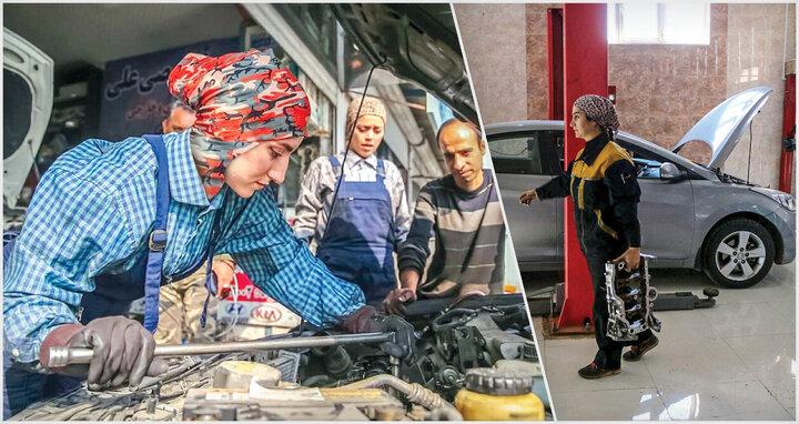 ظرافت زنانه در کنار قدرت مردانه؛ گفتگوی خواندنی با ۳ دختر مکانیک در تهران/ تصاویر