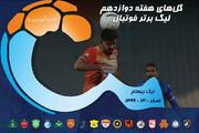 گلهای هفته دوازدهم بیستمین دوره لیگ برتر فوتبال ایران / فیلم