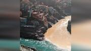 رودخانه دو رنگ و عجیب در هند / فیلم