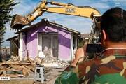 تخریب ویلای غیرمجاز دو مقام مسئول در فیروزکوه به دستور مقام قضایی/ فیلم