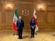 دیدار ظریف با رییسجمهور گرجستان