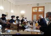 دیدار هیات سیاسی طالبان با ظریف/عکس