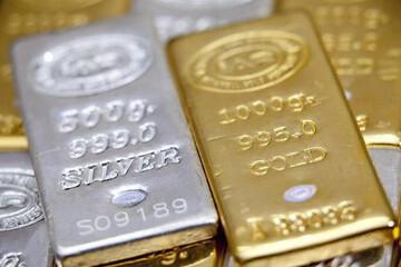 طلا ارزان و نقره گران شد