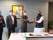دیدار وزیر دفاع کشورمان با وزیر دفاع هند