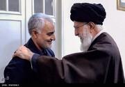 تصویر دیده نشده از رهبر انقلاب و سردار سلیمانی در حیاط بیت رهبری