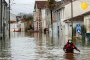 تصاویری از سیل شدید در فرانسه
