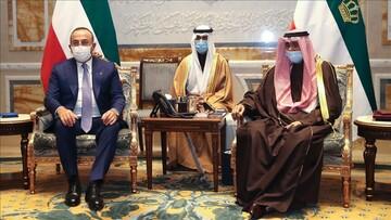 دیدار چاووشاوغلو با امیر کویت