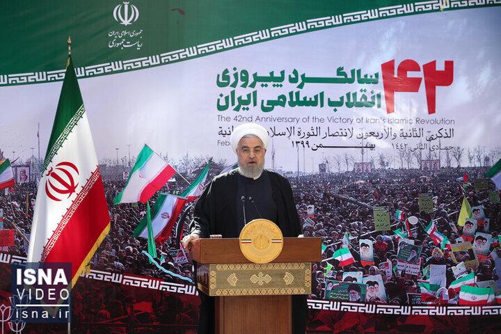 صحبت های کامل حسن روحانی رئیسجمهور در مراسم ۲۲ بهمن ۱۳۹۹/ فیلم