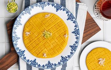 حلوای شیر و زعفران، خوش رنگ و خوش طعم + طرز تهیه