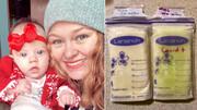 شیر مادر کرونایی سبز فسفری شد!/ عکس