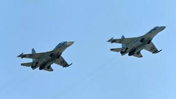 پرواز جنگندههای فرانسوی بر فراز دریای سیاه