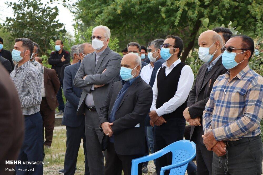 مراسم خاکسپاری پدر سید محمود علوی وزیر اطلاعات