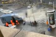 حمله به خودرو حامل پول با پوشش مامور شهرداری/ فیلم