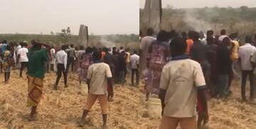 تصاویری از سقوط وحشتناک جنگنده ارتش نیجریه /فیلم