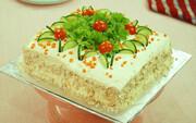 کیک مرغ؛ پیشغذای خوشمزه مجلسی + طرز تهیه