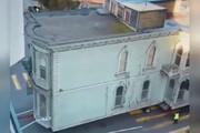 جابجایی عجیب خانه دو طبقه ۱۳۹ ساله در آمریکا/ فیلم