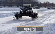 ساخت خودروی جالب برای حرکت بر روی برف و یخبندان / فیلم