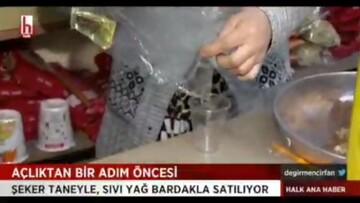 فروش روغن لیوانی در ترکیه/ فیلم