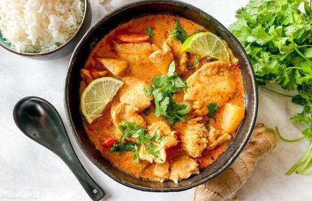 کاری ماسامان با مرغ، خوراکمحبوبتایلندی +طرز تهیه