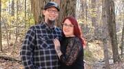 لباس های عجیب زوج آمریکایی در مراسم نامزدی / تصاویر
