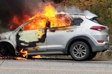علت آتش سوزی خودروهای شرکت هیوندای و کیا / فیلم