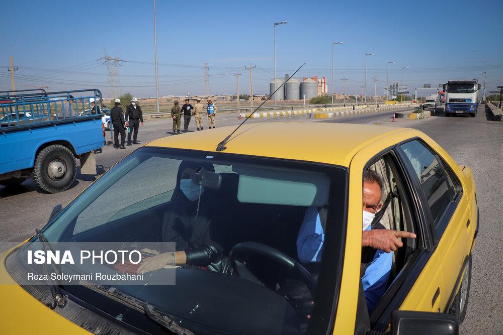 ممنوعیت ورود و خروج خودروها به اهواز در پی تشدید وضعیت قرمز-پلیسراه اهواز-اندیمشک