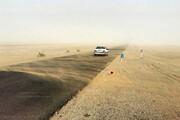 طوفان شدید شن در جاده شهداد کرمان / فیلم