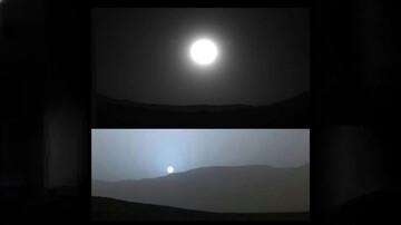 عکسی زیبا از غروب خورشید در مریخ