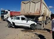 تصادف فجیع تریلی با پراید در کرمان/ آمار کشتهها اعلام شد