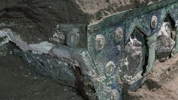 کشف ارابه قدیمی مربوط به دوره روم باستان زیر خاکسترهای آتشفشانی / تصاویر
