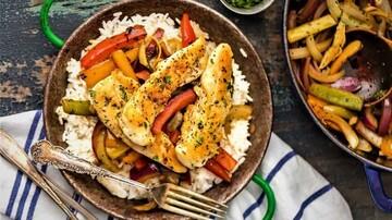 دستور پخت پلو فلفل دلمه ای با مرغ خوشمزه + مواد لازم