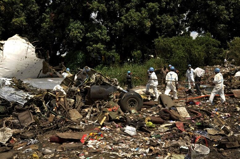 سقوط مرگبار هواپیما در حین فرود