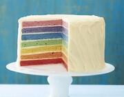 دستور پخت کیک رنگین کمان؛ مناسب میهمانی ها و تولد + مواد لازم