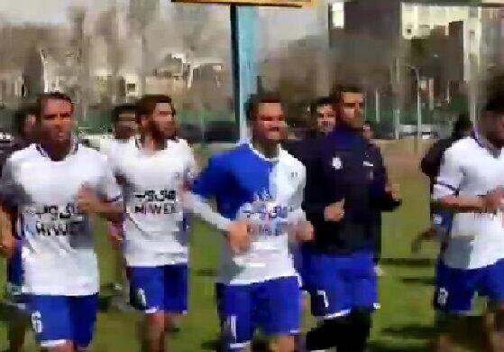 نخستین تمرین آبی پوشان پایتخت با هدایت فرهاد مجیدی / فیلم