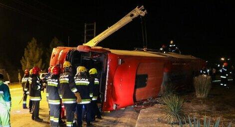 واژگونی اتوبوس در میمه ۲ کشته برجای گذاشت