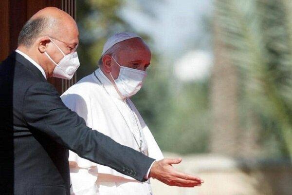 پاپ فرانسیس در بغداد با برهم صالح دیدار کرد