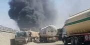 گمرک فراه در مرز ایران و افغانستان آتش گرفت / عکس و فیلم