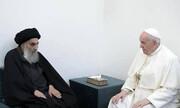 خداحافظی آیت الله سیستانی با پاپ فرانسیس/فیلم