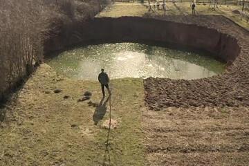 شکلگیری گودالهای عجیب پس از وقوع زلزله در کرواسی / فیلم