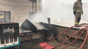 آتش گرفتن یک کارگاه صنعتی در جاده خاوران