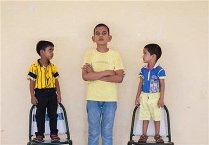 کودک ۵ ساله با ۱.۷۰ متر قد / تصاویر