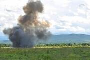 صحنه انفجار مهیب بمب به جا مانده از جنگ جهانی دوم در انگلستان / فیلم