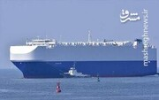 تصاویری از کشتی منفجر شده اسرائیلی در دریای عمان /فیلم