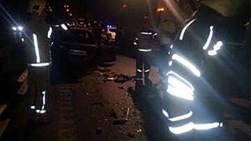 تصادف ۲ پراید در اتوبان تهران - قم خون به پا کرد