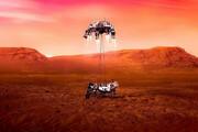 رد لاستیک مریخ نورد استقامیت بر روی مریخ / فیلم