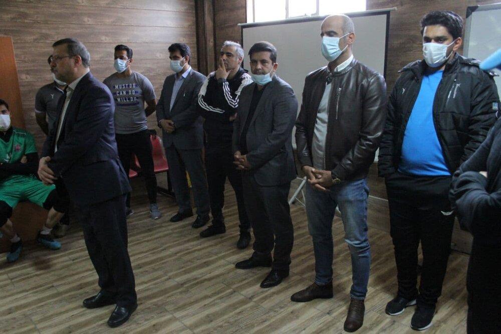 مراسم معارفه ساکت الهامی، سرمربی جدید نساجی برگزار شد / تصاویر