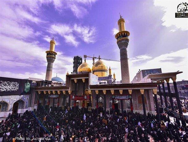 حضور زائرین در حرم شریفین کاظمین در سالروز شهادت امام موسی کاظم(ع) / تصاویر