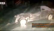 تصادف زنجیرهای شدید در محور تاکستان ابهر به دلیل برف و کولاک / فیلم